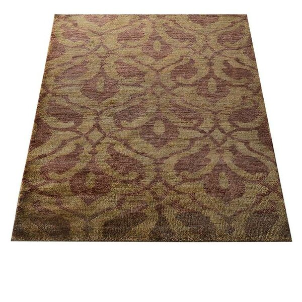 Rackers Hand-Knotted Brown/Beige Indoor/Outdoor Area Rug by World Menagerie