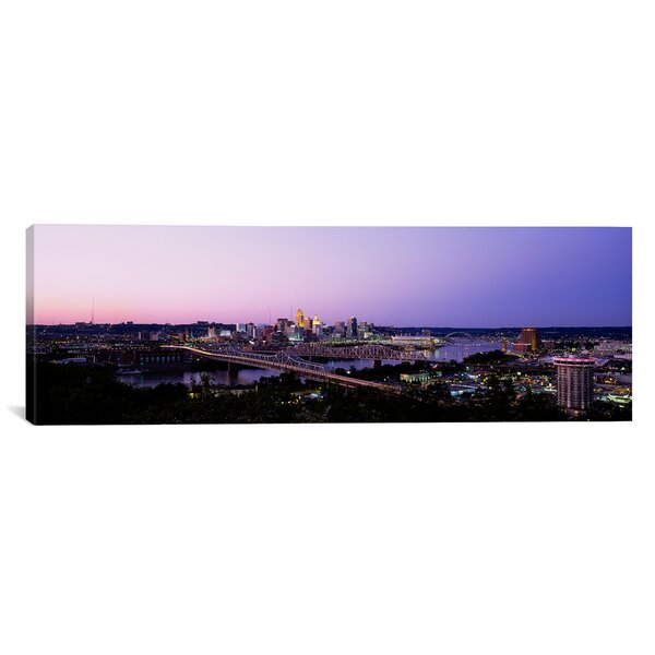 Panoramic Skyscrapers in a City, Cincinnati, Ohio Photographic Print on Canvas by iCanvas