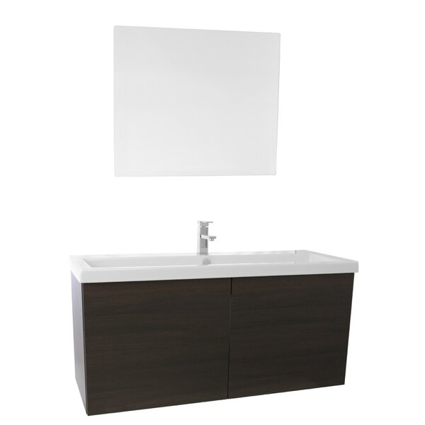 Space 47 Single Bathroom Vanity Set with Mirror by Nameeks Vanities