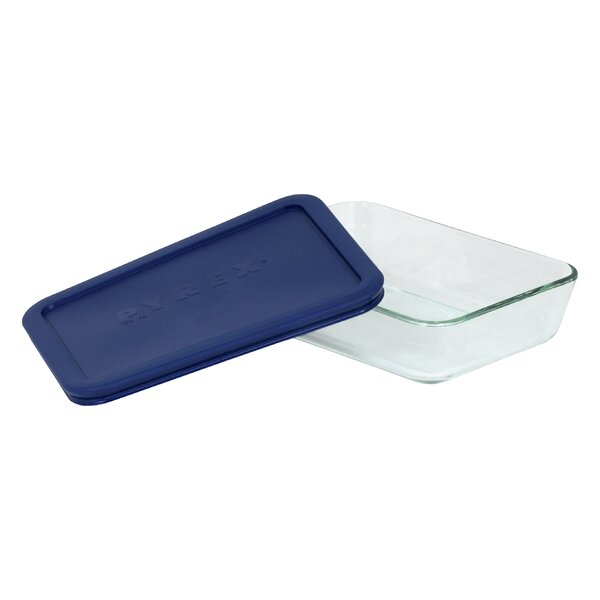 Storage 3-Cup Rectangular Dish with Cover by Pyrex