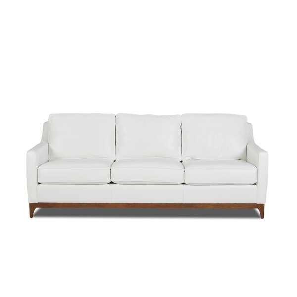 Sonia Leather Sofa by Corrigan Studio