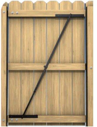 Anti Sag Gate Brace by Rustic Decor