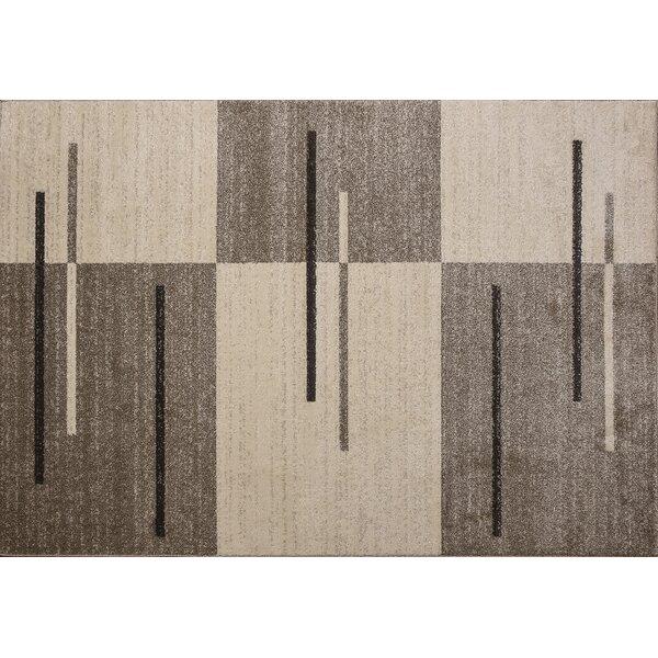 Swinehart Brown/Beige Area Rug by Ebern Designs