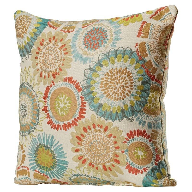 Delancy Aqua Throw Pillow
