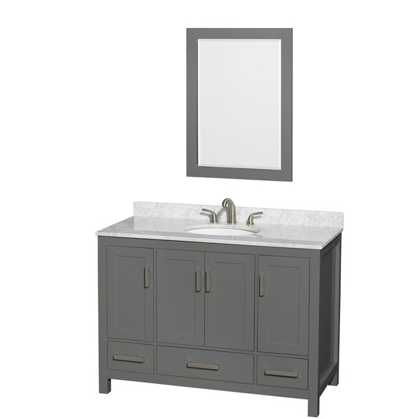 Sheffield 48 Single Bathroom Vanity Set with Mirror by Wyndham Collection