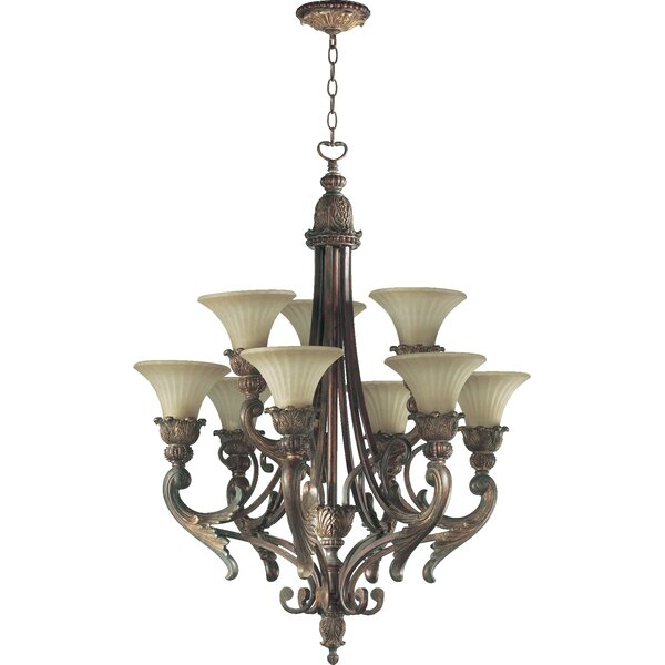 Mcfarlin 9-Light Shaded Classic / Traditional Chandelier By Astoria Grand