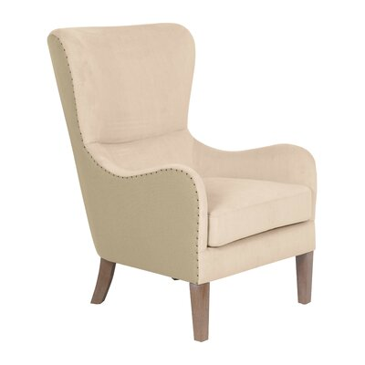 Wingback Chair Cream Tan img
