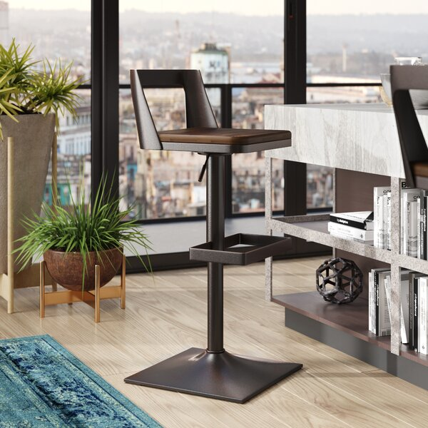 Flagler Adjustable Height Swivel Bar Stool by Trent Austin Design