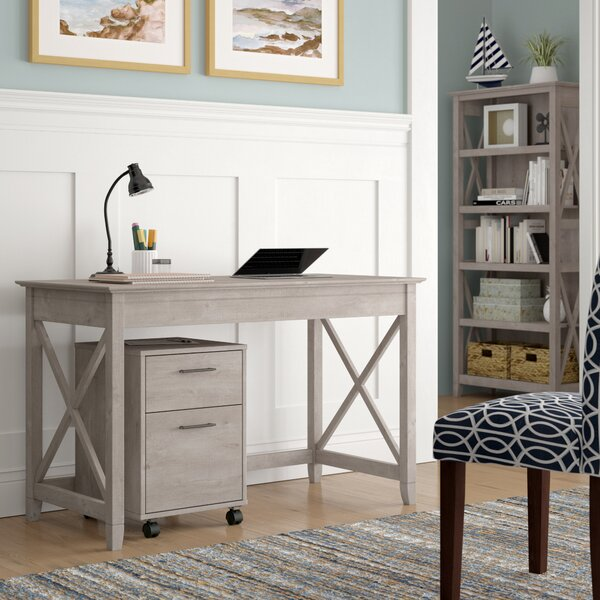 KeyWest 3 Piece Desk Office Suite by Beachcrest HomeKeyWest 3 Piece Desk Office Suite by Beachcrest Home