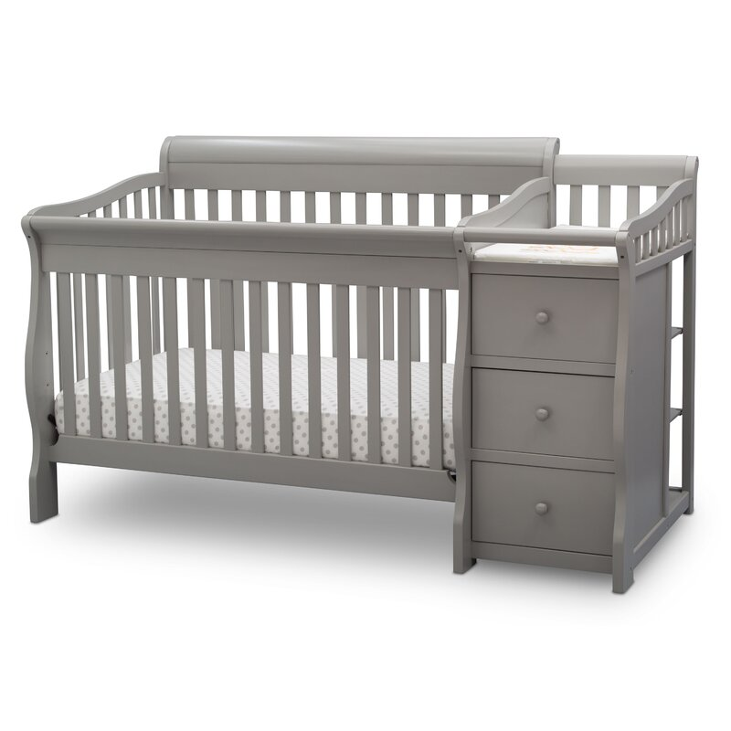 crib and deal color sorelle gray cribs spectacular changer with tuscany in princeton elite weathered on shop convertible