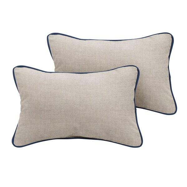 Chesapeake Sunbrella Cast Outdoor Lumbar Pillow (Set of 2) by Rosecliff Heights