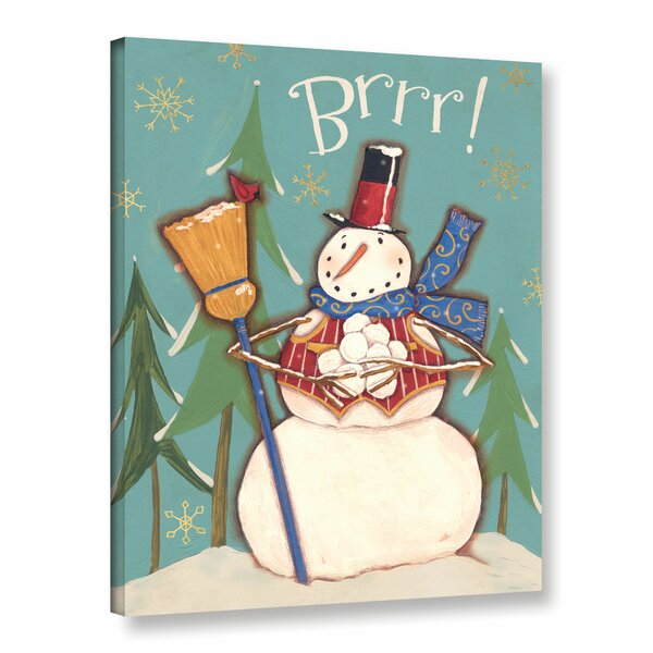 Snowman Season Painting Print on Wrapped Canvas by