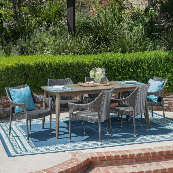 Oakhill 7 Piece Dining Set by Wrought Studio