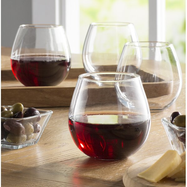 Stemless Balloon 20 Oz. Wine Glass (Set of 4) by L