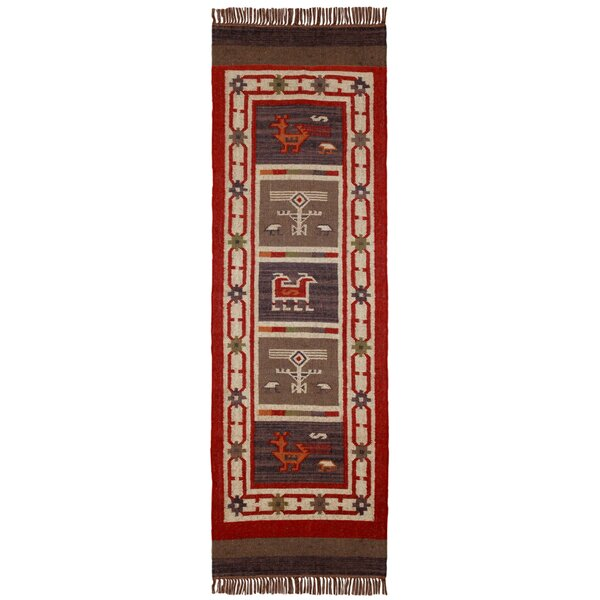 Hacienda Hand-Woven Red Area Rug by St. Croix