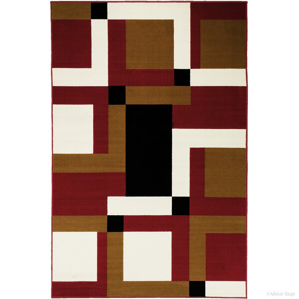 Hand-Woven Red/Brown Area Rug by AllStar Rugs