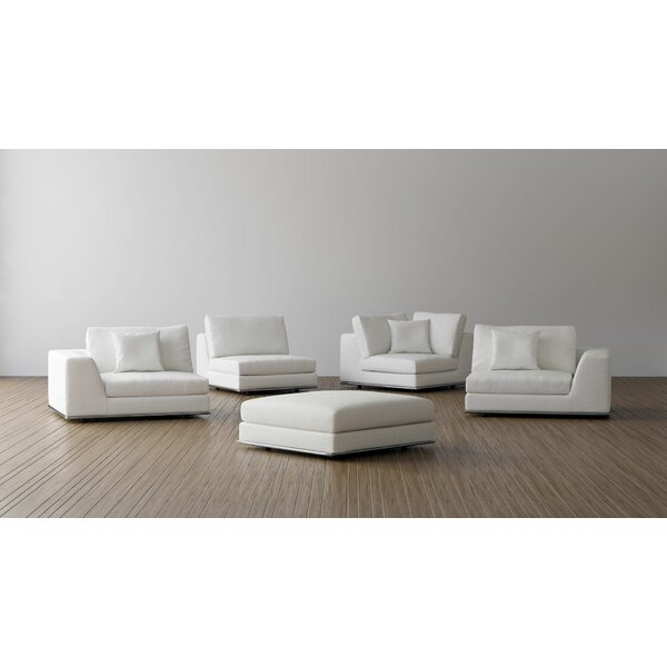 Syd Right Facing Modular Sectional with Ottoman by Orren Ellis