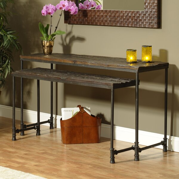Home & Outdoor Cortland 2 Piece Nesting Console Table Set