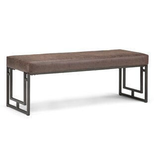 Sunburg Faux Leather Bench