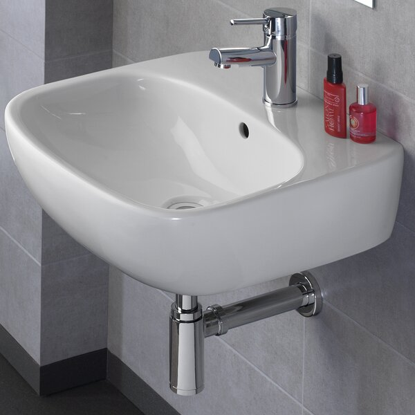 Moda Vitreous China 20 Wall Mount Bathroom Sink with Overflow by Bissonnet