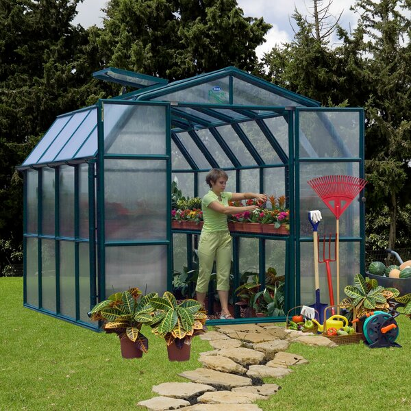 Prestige 2 Twin Wall 8 Ft. W x 8 Ft. D Greenhouse by Rion Greenhouses