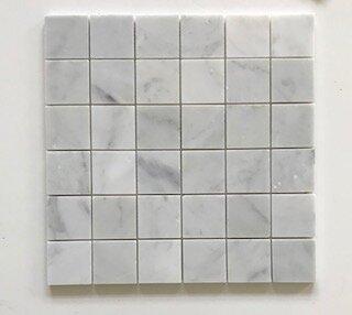 Carrara 2 x 2 Marble Mosaic Tile in Gray by La Maison en Pierre