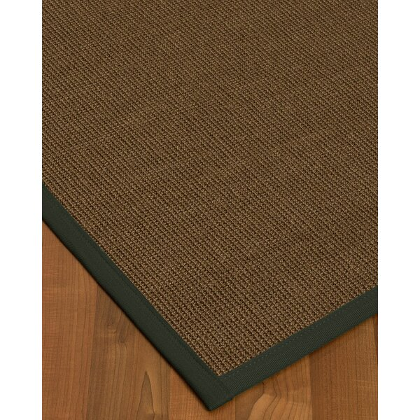 Kerner Border Hand-Woven Brown/Green Area Rug by Bayou Breeze