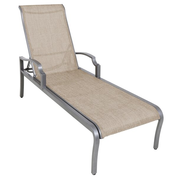 Konevsky Aluminum Poolside Sling Reclining Chaise Lounge by Red Barrel Studio