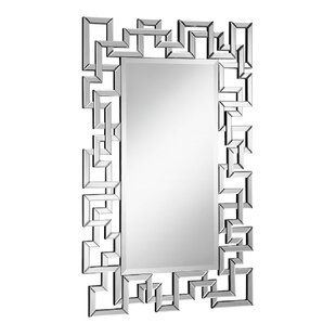 Latitude Run Rectangle Beveled Wall Mirror
