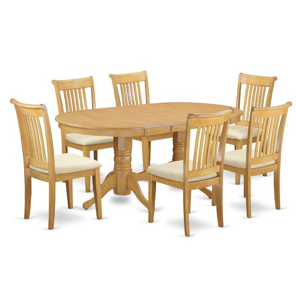 Daniella 7 Piece Extendable Solid Wood Dining Set by Alcott Hill Alcott Hill