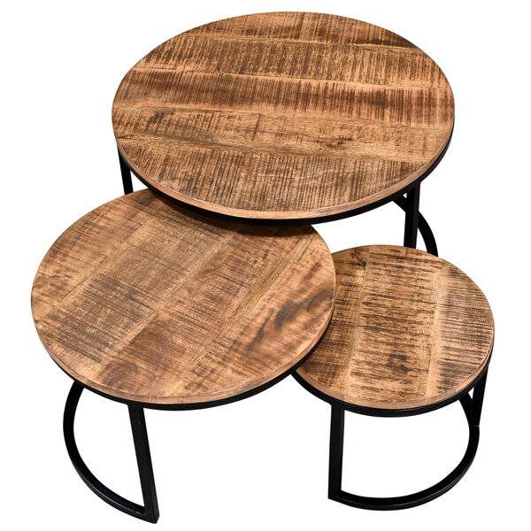 Kinzie 3 Piece Coffee Table Set By Union Rustic