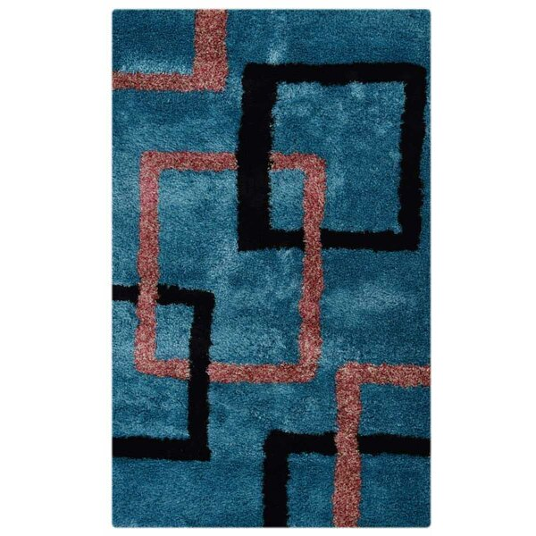 Vest Hand-Tufted Blue/Red/Black Area Rug by Latitude Run