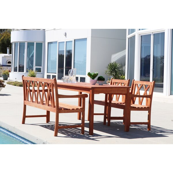 Stephenie 4 Piece Dining Set by Longshore Tides