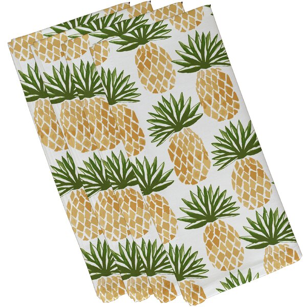 Elizabeth Street Pineapple Stripes Napkin (Set of 4) by Bay Isle Home