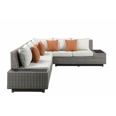 Gracie Oaks Patio Sectional Cushions Sofas