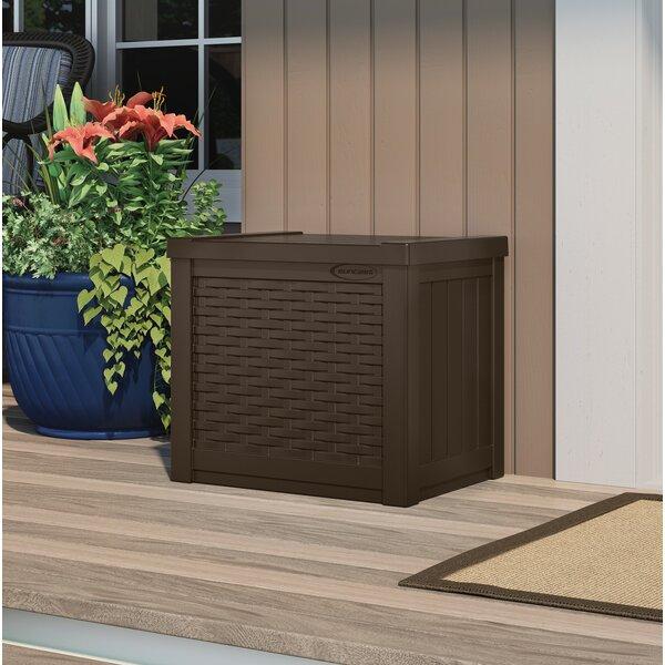Wicker 22 Gallon Resin/Plastic Deck Box by Suncast Suncast