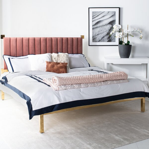 Elmdale Upholstered Standard Bed By Everly Quinn by Everly Quinn Discount