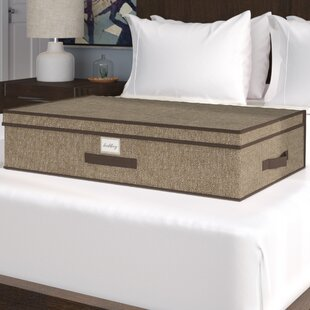 Affordable Price Faux Jute Underbed Storage By Rebrilliant
