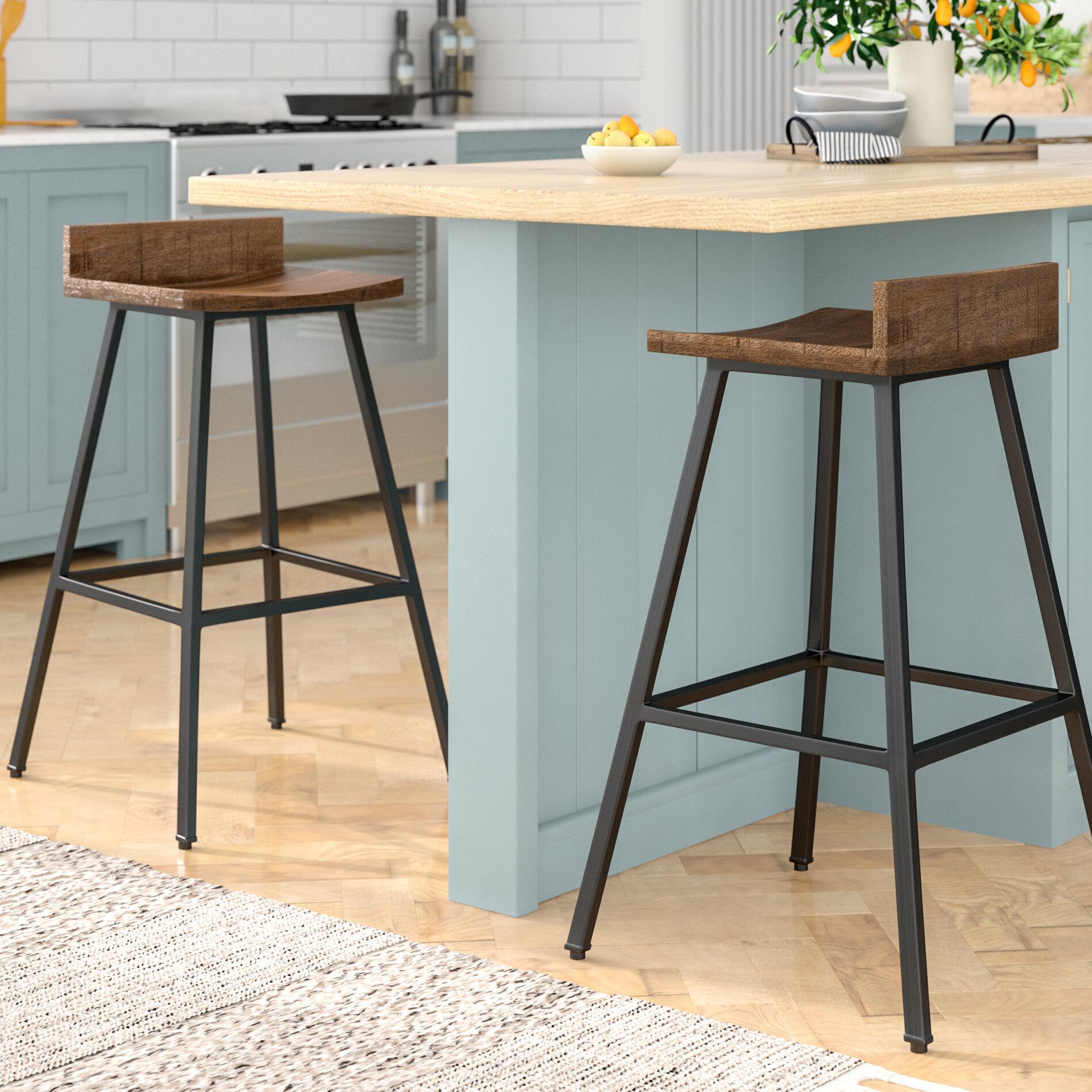 Swell Laurel Foundry Modern Farmhouse Gracie 27 Bar Stool Machost Co Dining Chair Design Ideas Machostcouk