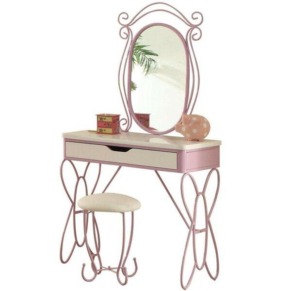 Earley Vanity Set with Mirror by Harriet Bee