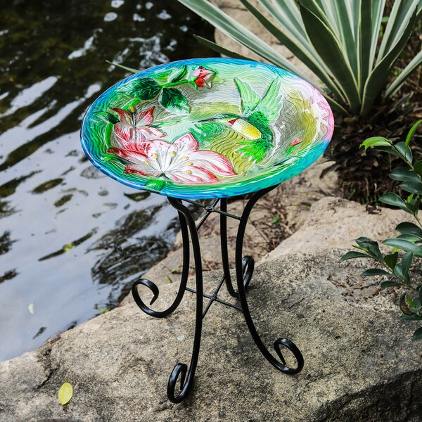 Hummingbird Birdbath by Winsome House