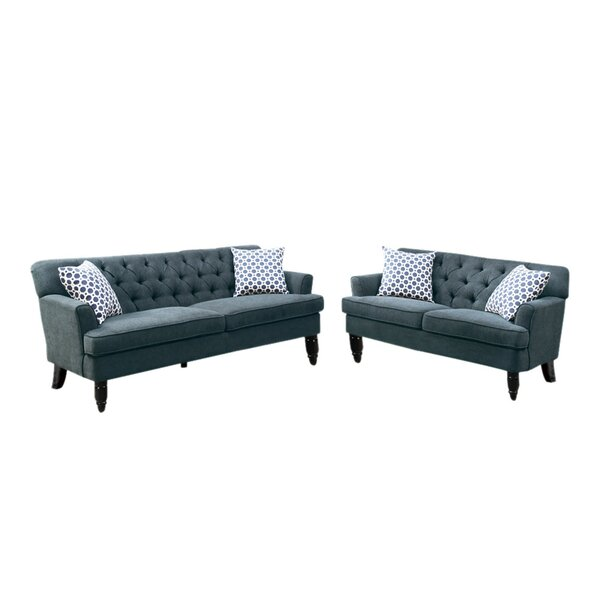 Lagasse Velveteen 2 Piece Living Room Set by Alcott Hill
