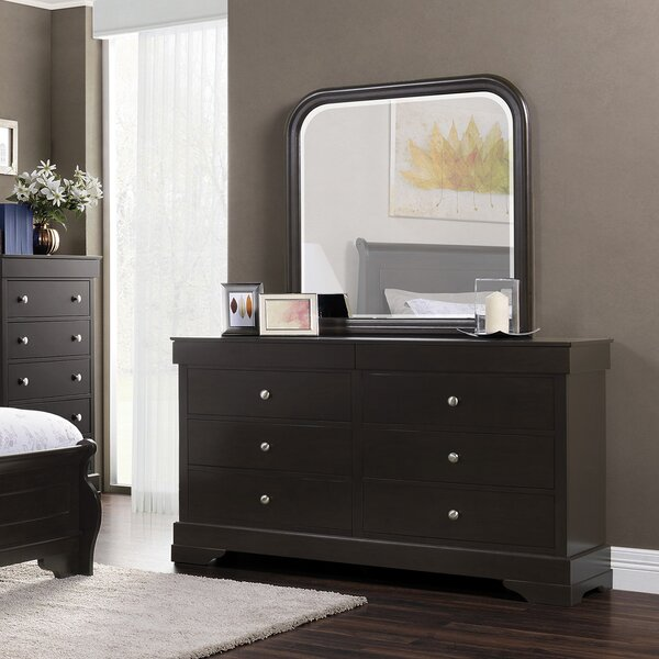 Manhattan 6 Drawer Double Dresser with Mirror by Domus Vita Design