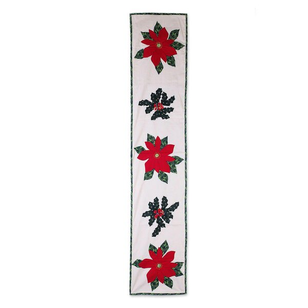 Gorski Christmas Poinsettias Cotton Table Runner by Bloomsbury Market