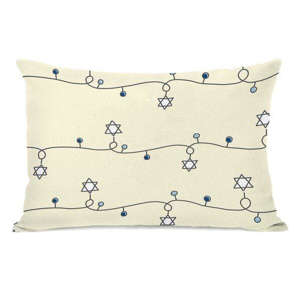 Hanukkah Light Strand Lumbar Pillow by The Holiday Aisle