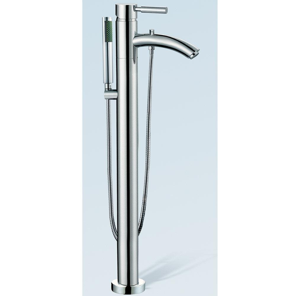Wyndham Collection Taron Floor Mount Tub Filler Hand Shower ...
