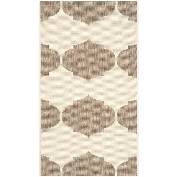 Short Beige/Brown Contemporary Rug by Winston Porter