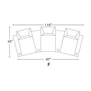 Leather Home Theater Sofa Row of 3