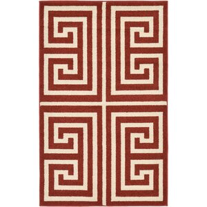 Cendrillon Geometric Terracotta Area Rug