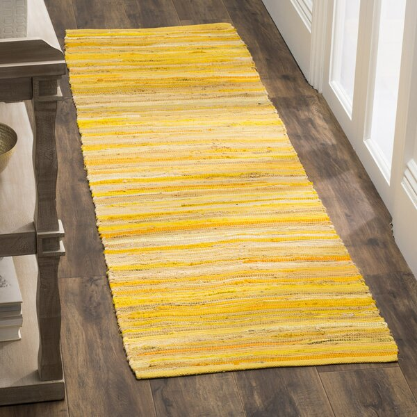Hand-Woven Yellow Area Rug by Safavieh